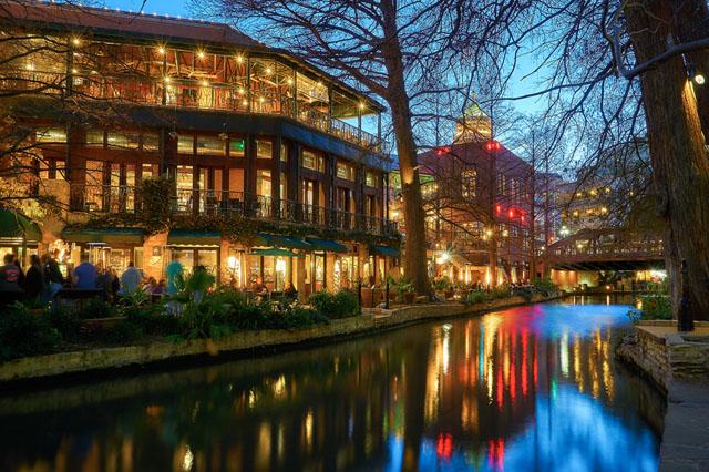 Residences near San Antonio river
